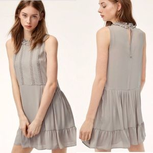 Sunday Best Light Grey Sleeveless Mini Dress